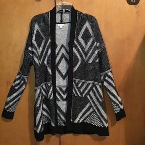 Sweaters - Black and White Cardigan